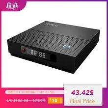 VORKE Z6 Plus Android 7.1.2 Dispositivo de TV inteligente Amlogic S912 3GB DDR3 32GB eMMC 4K TV caja WIFI 5,0 AC 1000M Bluetooth 4,1