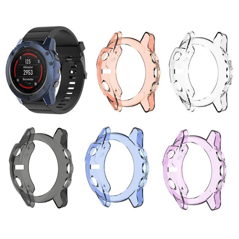 ТПУ прозрачный защитный чехол для Garmin Fenix 5X Смарт-часы защитный чехол для экрана Garmin Fenix 5X/Fenix 5S/Fenix 5