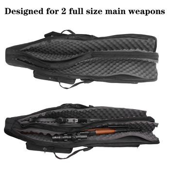 Tactical 120cm Double-Layer Gun Bag Military Waterproof Rifle Pouch Holster Airsoft Gun Padded Case Carry  Hunting Accessories 4
