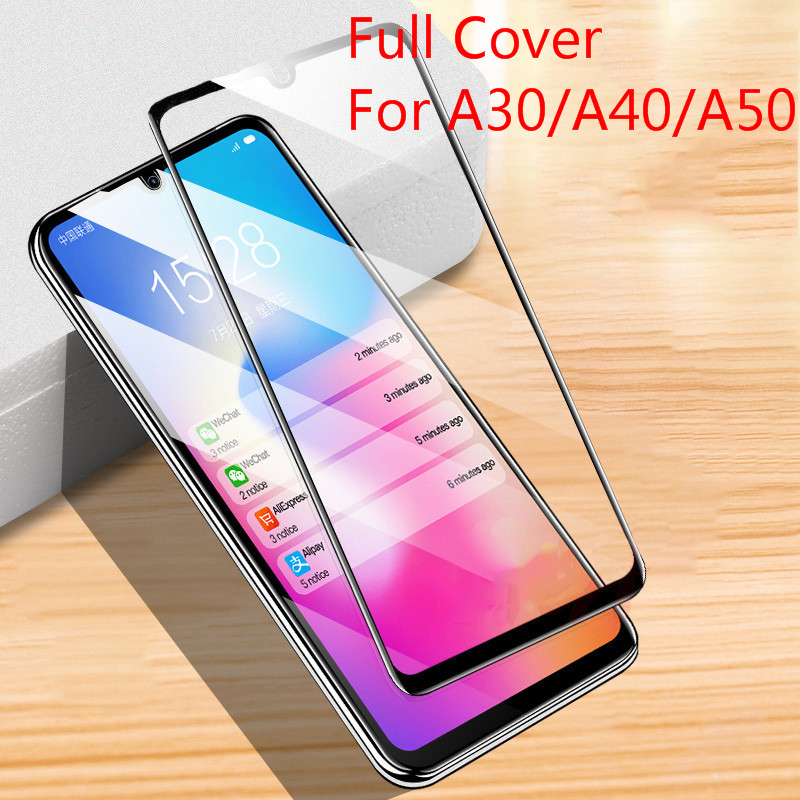 9D HD Tempered Glass for Samsung Galaxy A50 A40 A30 Protective Screen Glass for Galaxy Gelaksi A <font><b>50</b></font> <font><b>40</b></font> 30 image