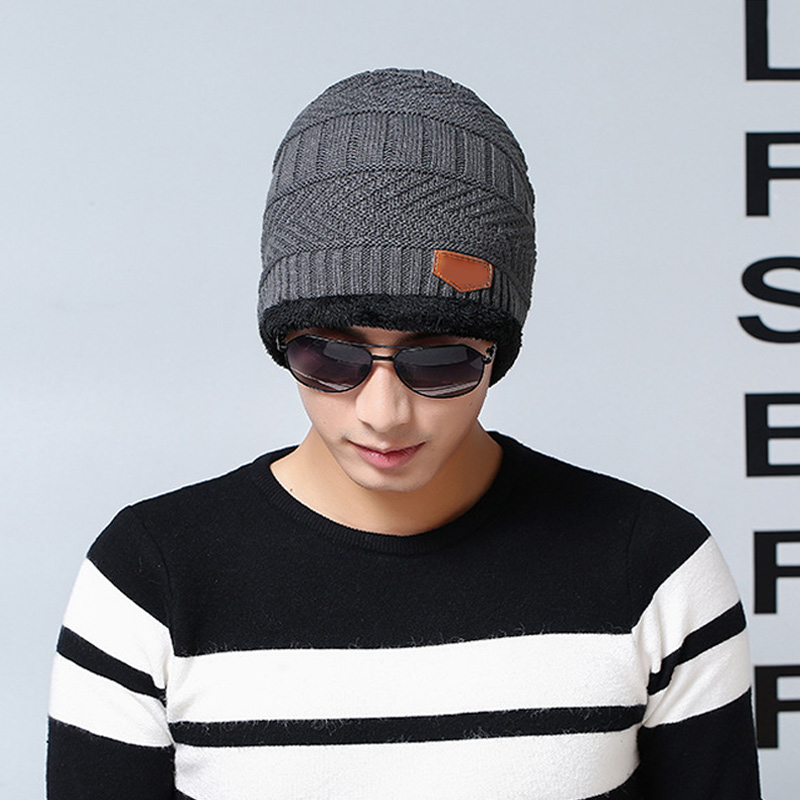 2019 Fashion Woolen Yarn Beanies Women Men Winter Supplies Knitted Hat Neckerchief Fashion Keep Warm Adult Ski Cap