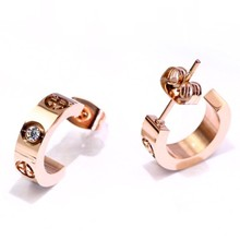 Earrings Big Letter Design Jewelry Fashion New of Numerals The-Best-Selling Korean-Version