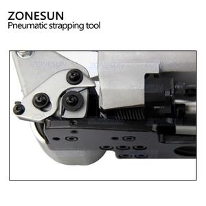 Image 3 - ZONESUN Handheld XQD 19 Pneumatische Tragbare Umreifung Werkzeug PP PET Palette Gürtel Band Spanner und Sealer Box Karton Maschine