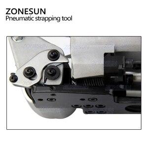 Image 3 - ZONESUN Портативный быстрое пневматическое портативное устройство для обвязки ПП ПЭТ поддонов ленточный натяжитель и упаковщик коробки картонная машина