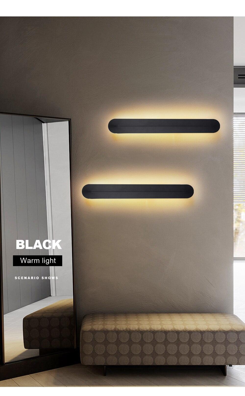arandela preto branco azul luminária de parede