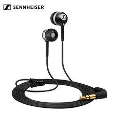 Sennheiser 3.5mm cx 300 ii precisão de isolamento de ruído orelha-canal telefones, fones de ouvido pretos com fio baixo fone de ouvido esporte correndo fones de ouvido