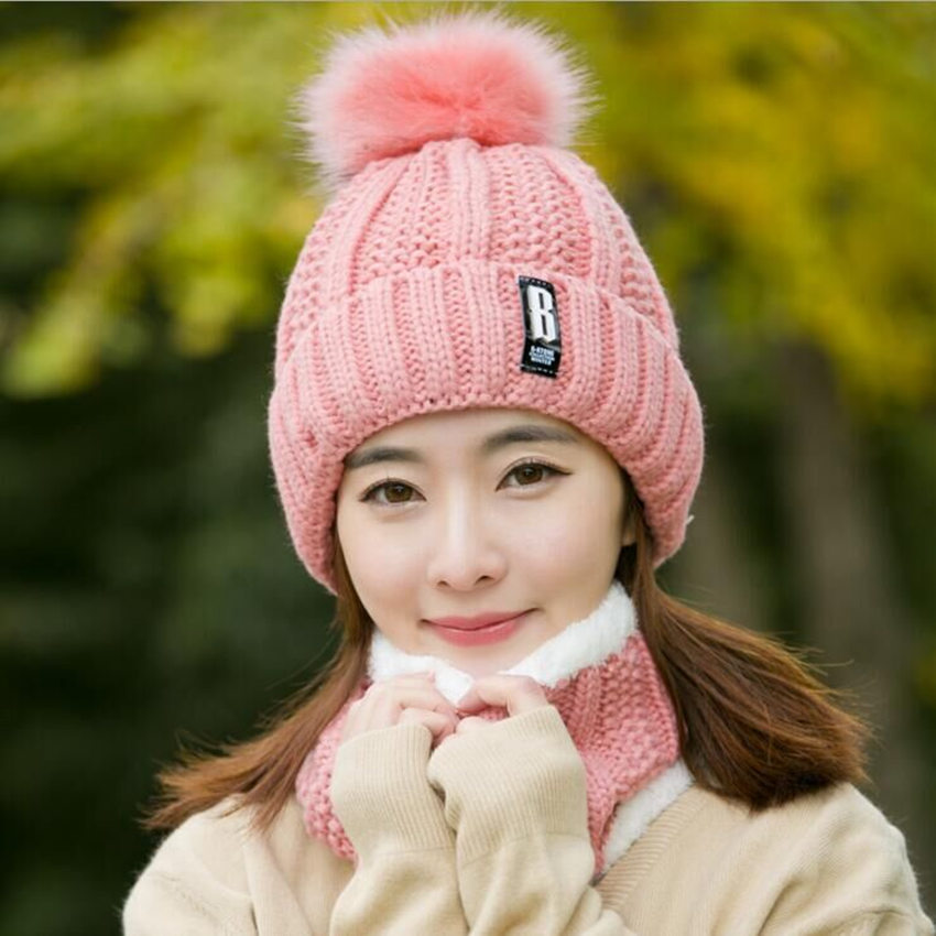 Wjustforu Winter Wool Hats And Scarf Set Women 7 Color  Beanie Hat Knitted Hats Scarf Hat Set Brand Kitted Female Cap Girl Warm