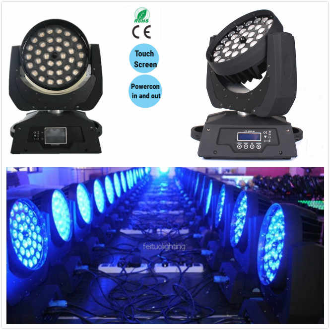E-1x Zoom moving head 36x18w rgbaw + uv led moving head zoom wash disco light