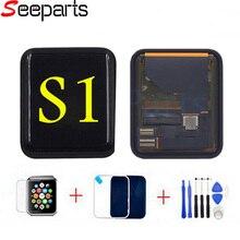 Für Apple Uhr Serie 1 LCD 42mm LCD Display Touchscreen Digitizer Ersatz Für Apple Uhr Serie 38mm LCD + Gehärtetem Glas