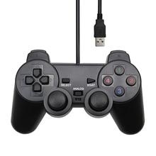 Controlador con cable de USB Gamepad para WinXP/Win7/Win8/Win10 para PC ordenador portátil Joystick de juego negro