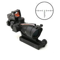 ACOG 4X32 Optical Scope Rifle Scope Oscilloscope Kachvron Mesh Fiber Red Fiber Source Red Illumination Rifle Sight RMR Red Dot
