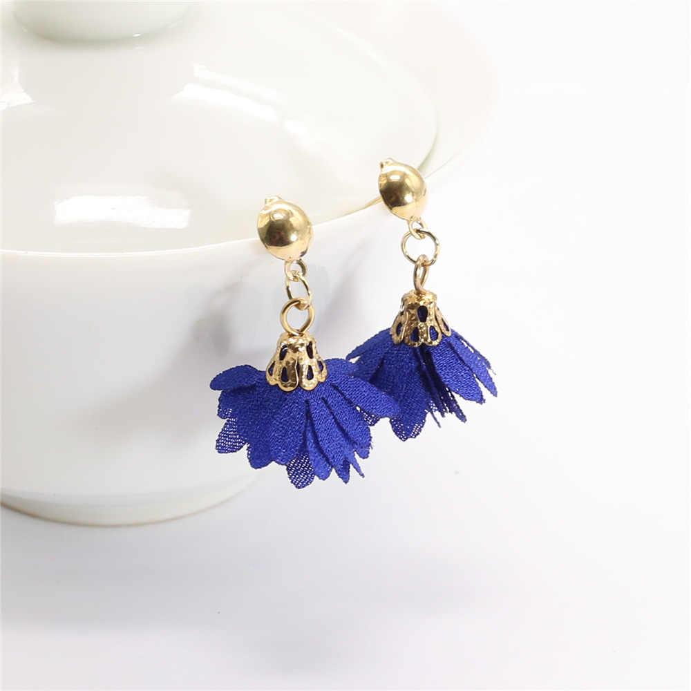 Fashion Boho Tassel Earrings for Women 2019 Trendy Statement Cute Flower Drop Dangle Earring for Women Za Pendientes Jewellery