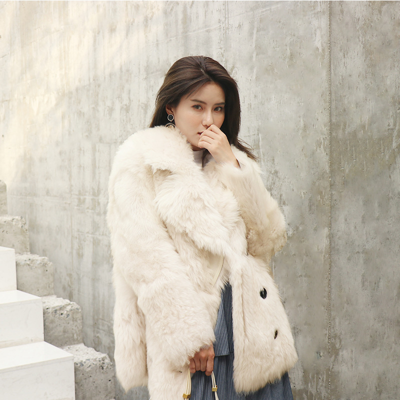 Real Fur Coat Women Sheep Shearling Winter Coat Women Korean 100% Wool Jacket Women Clothes 2020 Manteau Femme YY1057