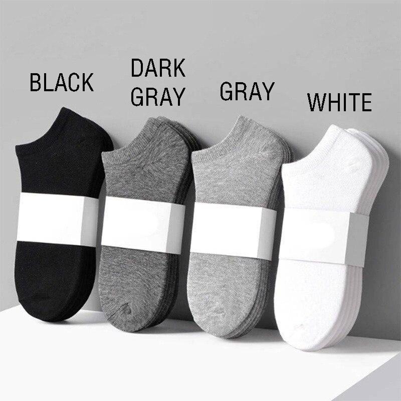 Носки-невидимки короткие из чистого хлопка, 5 пар
