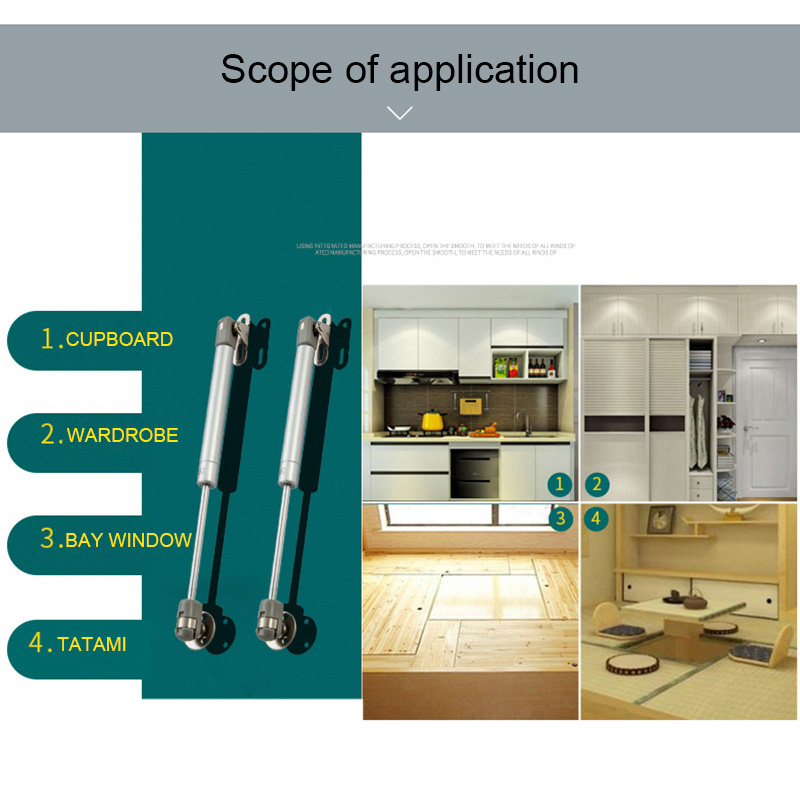 Furniture Hinge Kitchen Cabinet Door Lift Pneumatic Support Hydraulic Gas Spring Stay Hold JAN88