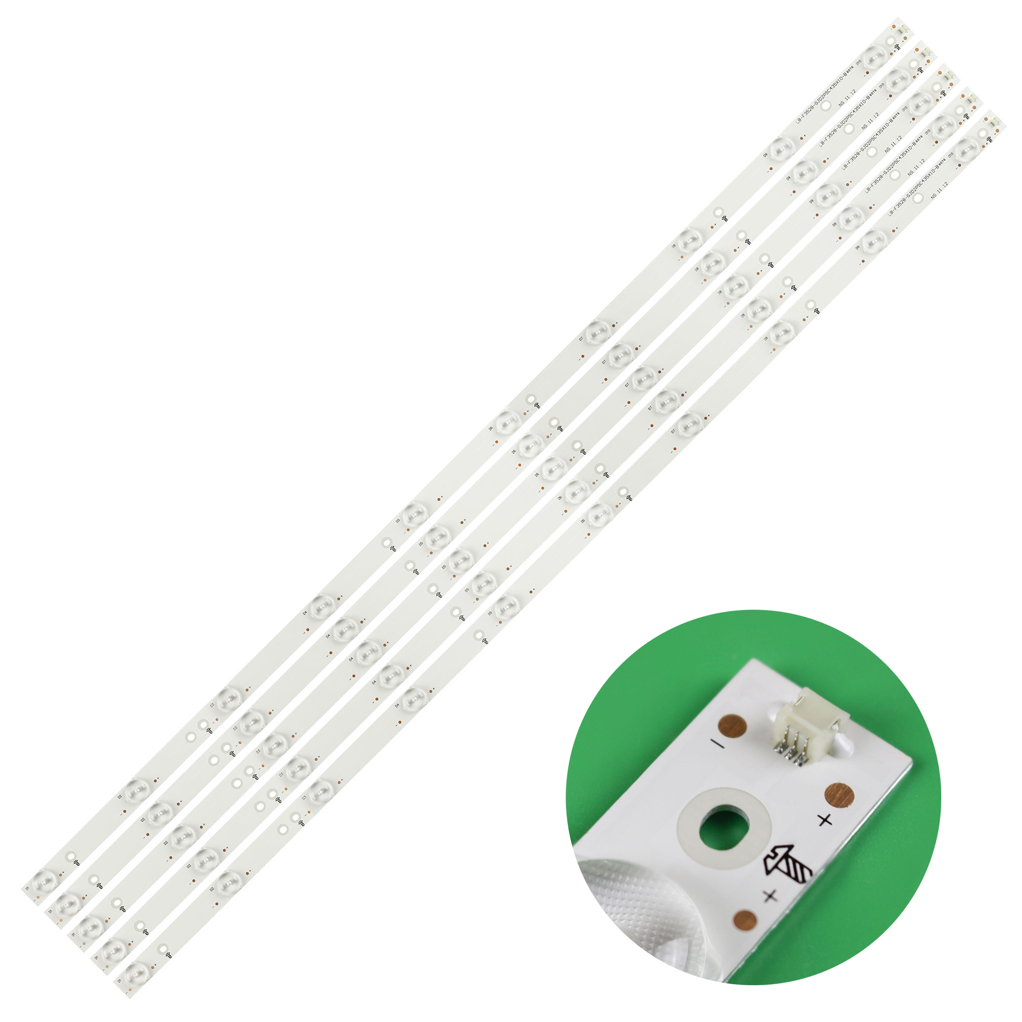 3V GJ-2K15-430-D510 Led-Backlight-Strip New for 43PFT4131 01Q58-A 10LED 5pcs/Set