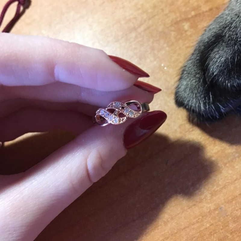 DWR334 vague forme or Rose couleur bague de mariage pour les femmes marque de mode cristal autrichien bijoux Vintage