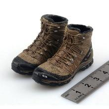 1/6 männlichen Soldat Solide Kampf Stiefel Schuhe RIP Dichtung Team Sechs Kampf Im Freien Wandern Schuhe Modell für 12'' Abnehmbare Füße körper