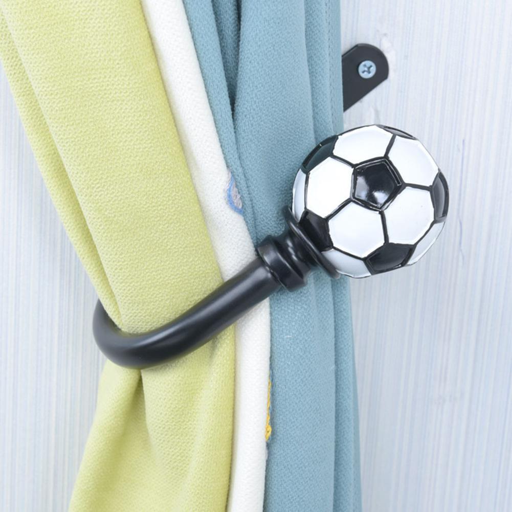 1Pc Wall Mounted U Shape Football Curtain Hold Backs Tie Hook Holder Home Decor Curtain Accessoires