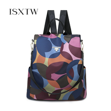 ISXTW Fashion Oxford Women Anti-theft Backpack Teenagers Student Backpack For Women Multifunctional Travel Vacation Package /C34
