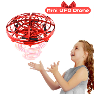 Mini Drone UFO Hand Operated RC Helicopter Quadrocopter Dron Infrared Induction Aircraft Flying Ball Toys For Kids