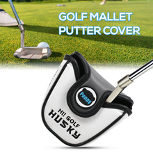 Golf Putter Headcover Cover Outdoor Sports PU leather Ball Accessories with Magnetic Closure