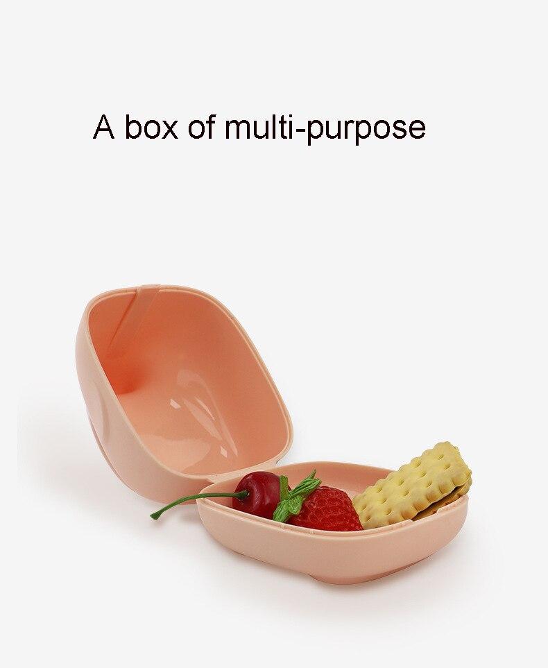 Caixa recipiente para chupeta de bebê, portátil,