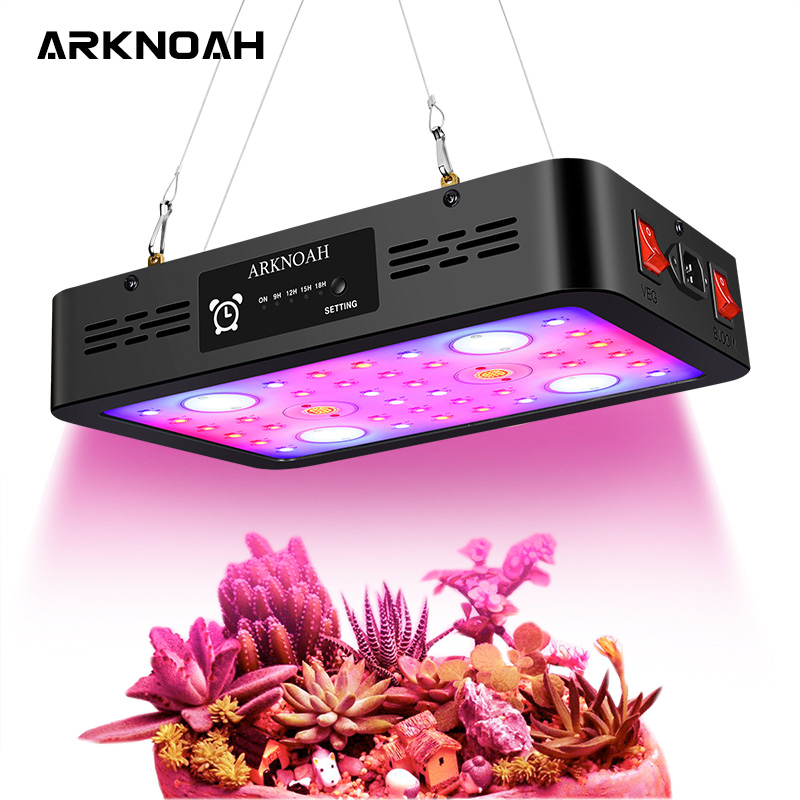 ARKNOAH LED Grow Light Full Spectrum 1200W Dual Chip Timing Grow Lamps for Greenhouse Indoor Plant Veg Bloom Switches