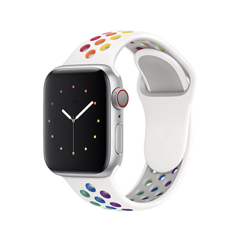 For Apple Watch Band IWatch Series 5 4 44mm 40mm Belt Bracelet  Apple Watch 5 4 3 2  New Pride Edition Sport Band Silicone Strap