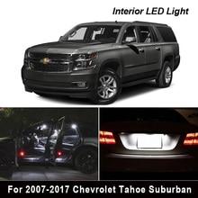 14 pces led luz branca pacote interior kit para 2007 2017 chevrolet tahoe suburban mapa dome tronco luz da placa de licença