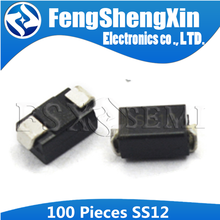 100pcs SS12 SMA 1N5817 1A 20V DO-214ac IN5817 Schottky diode
