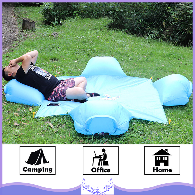 Outdoor Beach Camping Barbecue Mat Portable Waterproof Picnic Mat with Inflatable Pillow for Outdoor Beach Camping Barbecue Mat