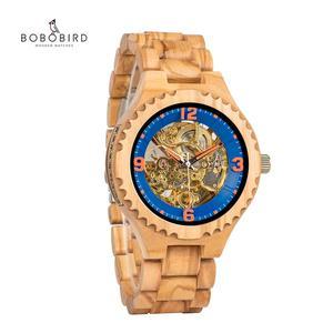 Image 1 - Relogio Masculino BOBO BIRD Wood Watch Men Luxury Brand Automatic Wristwatches Groomsmen Present reloj hombre OEM Dropshipping