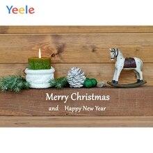 Yeele Christmas Photocall Ins Wood Horse Candle Photography Backdrops Personalized Photographic Backgrounds For Photo Studio