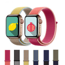 Banda Apple Watch/5/4/3/2 40MM 44MM Nylon transpirable suave Correa deporte bucle para iwatch serie 4 38MM 42MM(China)