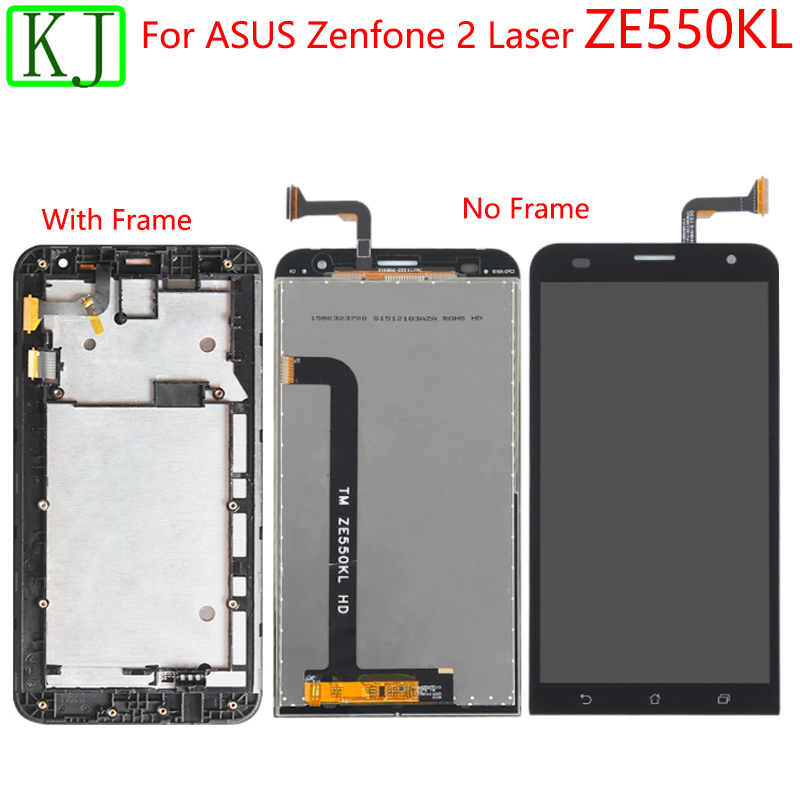 For ASUS Zenfone 2 Laser <font><b>ZE550KL</b></font> Z00LD <font><b>LCD</b></font> Liquid Crystal Display Touch Screen Digitizer Panel with Frame For <font><b>ZE550KL</b></font> <font><b>lcd</b></font> touch image