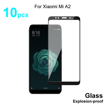 For Xiaomi Mi A2 Glass Full Cover Tempered Glass Screen Protector 9H Hardness Protective Glass For Xiaomi Mi A2 Mi 6X