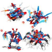 Spiderman Spider-man Far From Home Anti Venom Carnage Spider Gwen Man Batman Avengers Building Blocks Toys For Children Figures