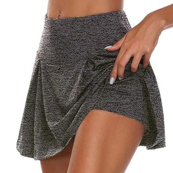 Kobiety Sport krótka spódniczka plisowana joga krótka spódniczka Fitness szorty do biegania oddychająca sportowa nieprześwitująca spódnica odzież sportowa na siłownię tanie i dobre opinie CN (pochodzenie) POLIESTER WOMEN Dobrze pasuje do rozmiaru wybierz swój normalny rozmiar 511515 Stałe faldas mujer moda 2020