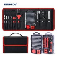 Set di cacciaviti kindours Phillips magnetici Torx Bit Set di punte per cacciavite di precisione 135 In 1 Kit di utensili manuali di riparazione per telefono cellulare