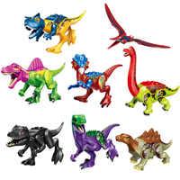 1 stücke Dinosaurier Legoing Jurassic Welt 2 Tyrannosaurus Rex Bausteine Bricks Set Modell Spielzeug Für Kinder Geschenk