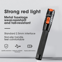 AUA 1 Kırmızı Işık Kaynağı Metal Fiber Optik Kablo Test Cihazı Görsel Hata Bulucu 5 km Fiber Checker Bulucu
