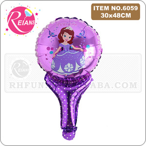 Image 5 - Avenger super hero stick balloons cartoon figure handheld foil balloons party supplies birthday party decorations kids toys