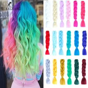 XG omber плетение волос растяжения крючком Жаростойкие 24 дюйма 100 г синтезированные мягкие kankaelon коса Розовый Оранжевый Фиолетовый