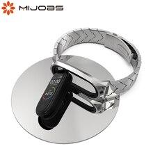 For Mi Band 6 Strap for Mi Band 5 4 Bracelet Wristband for Xiaomi Miband 3 Mi Band 4 Metal Wrist Belt Correa NFC Global Version