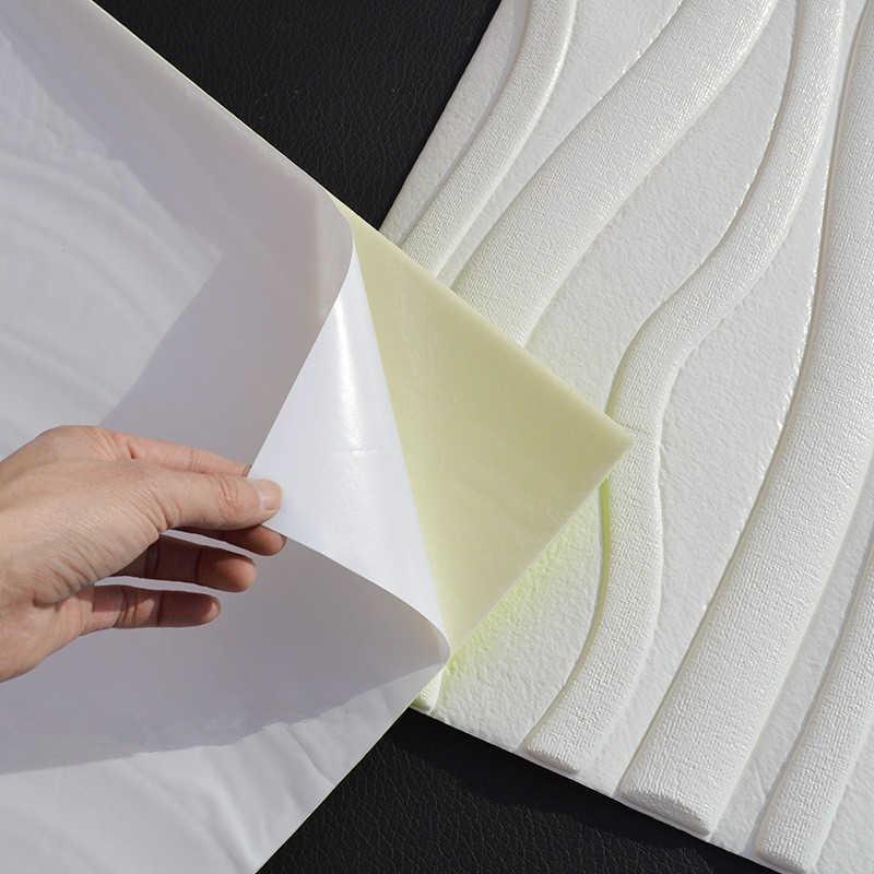 60*60 سنتيمتر ثلاثية الأبعاد خلفية تقليد الطوب مقاوم للماء ذاتية اللصق ملصقات جدار لتقوم بها بنفسك رغوة البولي ايثيلين التلفزيون غرفة نوم خلفية خلفية ديكور المنزل