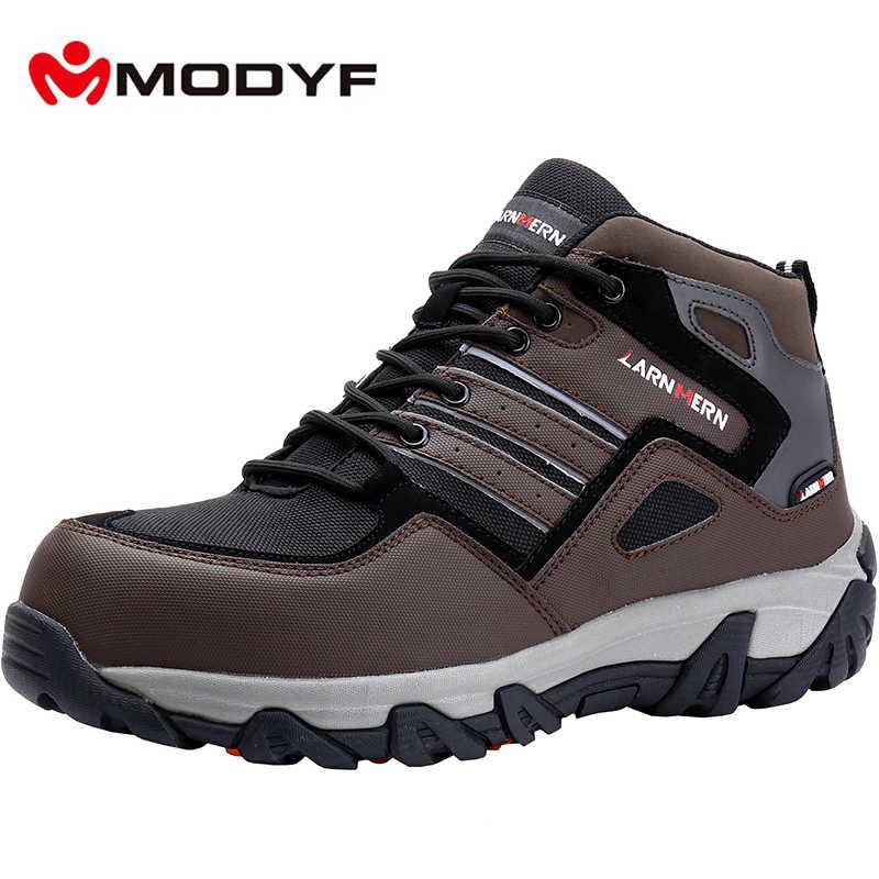MODYF nefes erkekler güvenlik ayakkabıları çelik ayak iş ayakkabısı erkekler için Anti-smashing İnşaat yürüyüş yansıtıcı