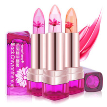 ZHENDUO 3 colors lipbalm Waterproof Lip Gloss Flower Lipstick Temperature Change Color Jelly lip balm Transparents care