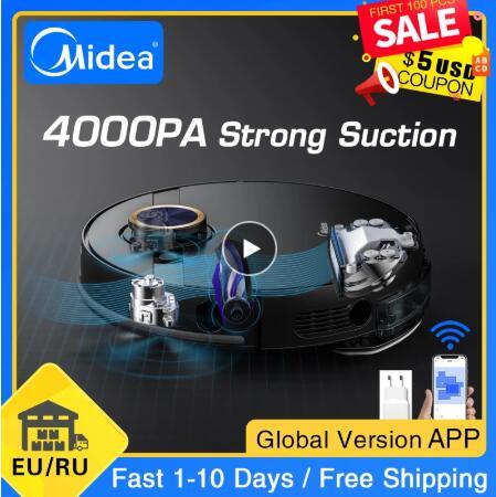 2021 Midea M7 Pro Roboter-staubsauger Hause Kehr Saug Reinigung Vibrierende Mopp Staub Collector Smart Geplant Sauger