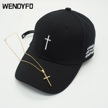 New Men Women Fashion Embroidery Cross Baseball Cap Cotton Snapback Dad Hat Bone Casquette Summer Couple Hip Hop Caps Gorras